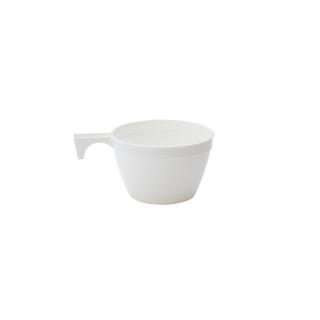 Tazza caffè bianca in polipropilene con manico