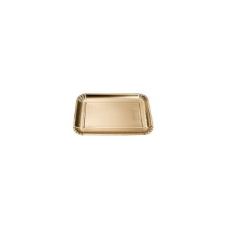 Vassoio rettangolare oro mis 1 cm 12x16