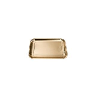 Vassoio di cartone rettangolare oro mis 2,5(2 bis) cm 14x21