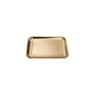 Vassoio di cartone rettangolare oro mis 3 cm 16x23