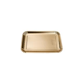 Vassoio di cartone rettangolare oro mis 4 cm 18x26