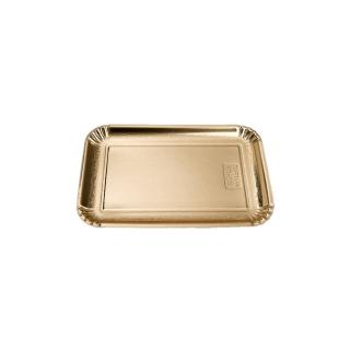 Vassoio di cartone rettangolare oro mis 5 cm 20x28