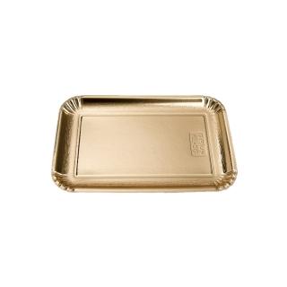 Vassoio di cartone rettangolare oro mis 7 cm 25x34