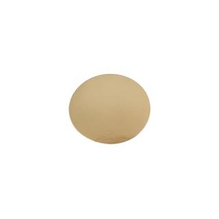 Monoporzione oro cm 12 di cartone liscio gr/mq 1.050