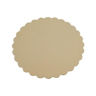 Disco oro cm 24 di cartone cappato gr/mq 2.400