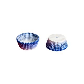 Pirottino tondo millerighe blu n. 4 fondo cm 3,5 h 1,75