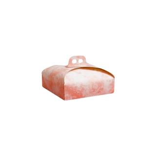 Scatola torta quadrata nuvola rosa cm 19x19