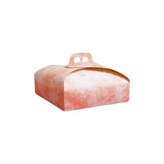 Scatola torta quadrata nuvola rosa cm 25x25