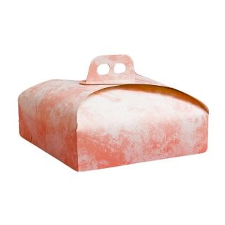 Scatola torta quadrata nuvola rosa cm 36x36