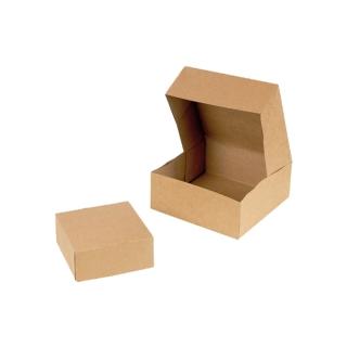 Scatola di cartone avana per pasticceria cm 20x20x8