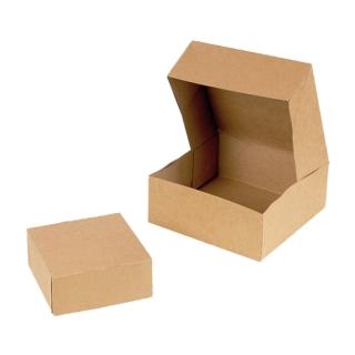 Scatola di cartone avana per pasticceria cm 32x32x5