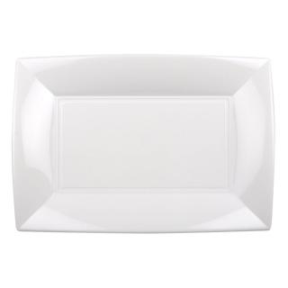 Piatto Nice in polipropilene bianco cm 34,5x23x3