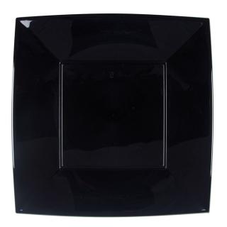Piatto Nice in polipropilene nero riutilizzabile cm 29x29
