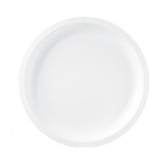 Piatto bianco tondo grande in polipropilene cm 29
