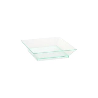 Piatto di plastica trasparente cm 6,5x6,5