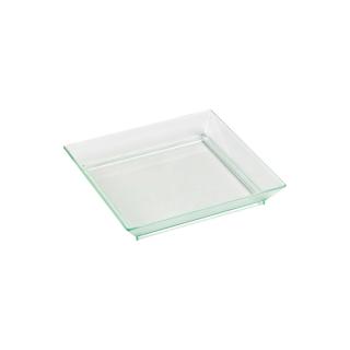 Piatto di plastica trasparente cm 10x10