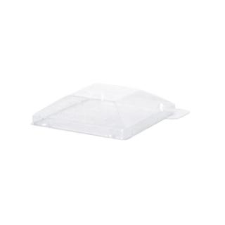 Coperchio trasparente in PET per piatto di plastica cm 10x10