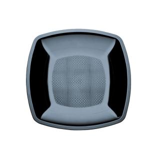 Piatto fondo nero cm 18x18x4