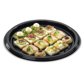 Piatto tondo pizza Festipack nero cm 30x30x0,17