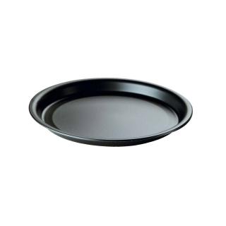Piatto di plastica nero Ø cm 22
