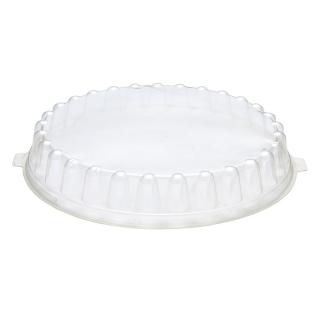 Coperchio trasparente in Pet per piatto bianco diametro cm 26