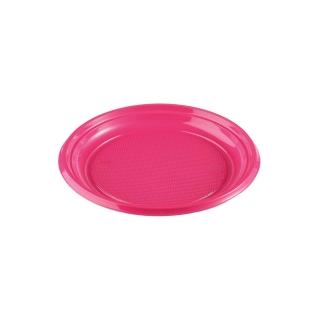 Piatto di plastica fucsia dessert gr 5 diametro cm 17