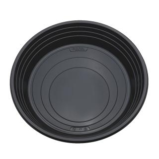Piatto di plastica nero piano  Ø cm 21 gr.11