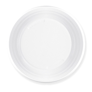 Piatto di plastica bianca fondo gr 6 Ø cm 20,3
