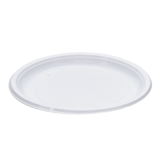 Piatto di plastica bianca piano rigido gr 12 Ø cm 21