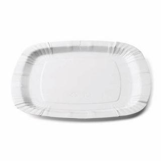 Piatto bianco in cartoncino politenato cm 24x24
