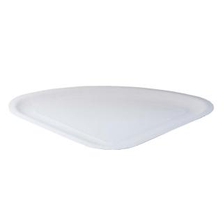 Piatto bianco triangolare in cartoncino accoppiato 1/4 di pizza