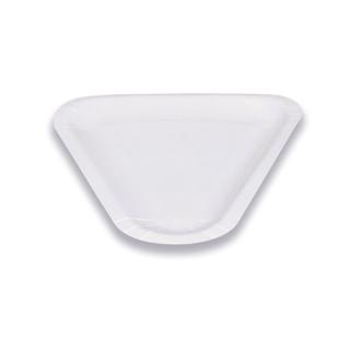 Piatto bianco triangolare in cartoncino accoppiato 1/6 di pizza