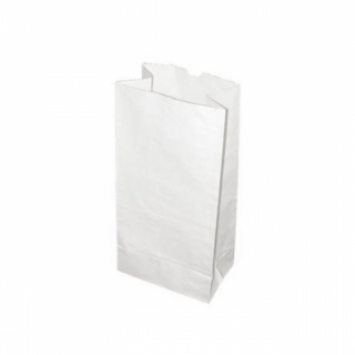 Sacchetto carta alimentare bianco fondo quadro cm 15x10 h 32