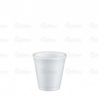 Bicchere termico bianco in polistirolo espanso cc 80