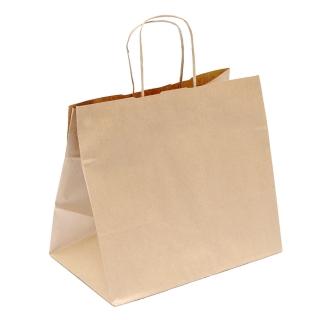 Shopper di carta avana manico ritorto cm 36 + 22 x 33 gr 100/mq