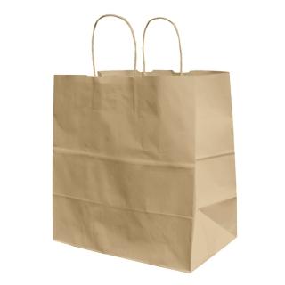 Shopper di carta avana  con manico ritorto cm 32x19x34