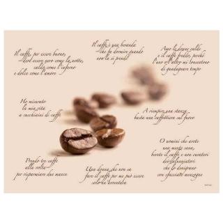 Tovaglietta 30x40 Poesia di Caffè gr.60