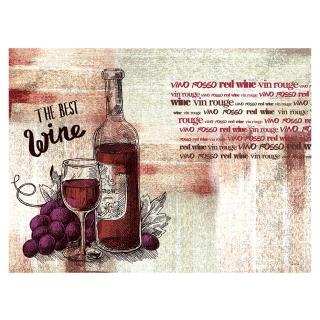 Tovaglietta 30x40 Carta Paglia Vino Rosso