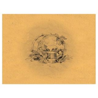 Tovaglietta 30x40 Carta Paglia Birra