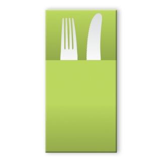 Tovagliolo in airlaid pocket verde mela cm 40x30