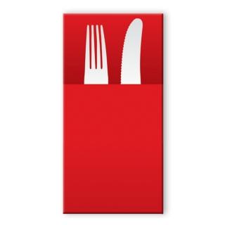 Tovagliolo in airlaid pocket rosso cm 40x30