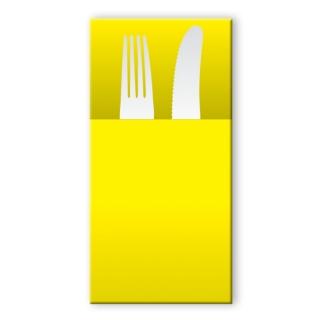 Tovagliolo airlaid pocket giallo 40x30