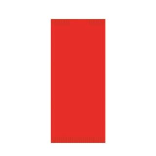 Busta portaposate di carta color rosso