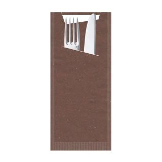 Busta porta posate carta paglia cacao Pocket