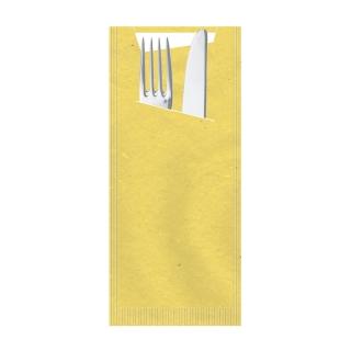 Busta porta posate carta paglia giallo Pocket