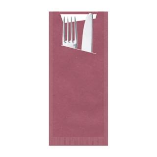 Busta porta posate carta paglia viola Pocket