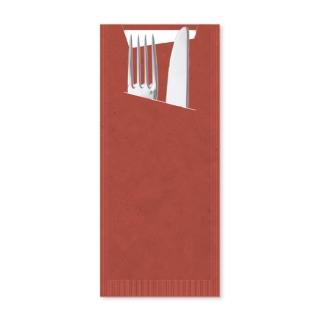 Busta porta posate carta paglia scarlatto Pocket