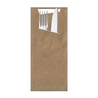 Busta porta posate carta paglia havana Pocket