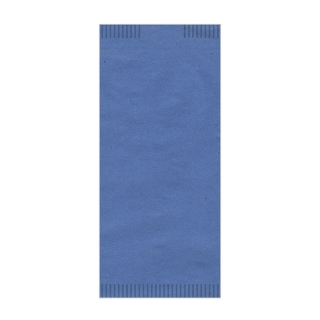 Busta porta posate carta paglia blu 4seal