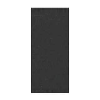 Busta porta posate carta paglia nero  4seal